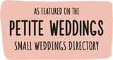 As featured on the PETITE WEDDINGS Small Weddings Directory